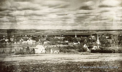 Overview of Hantsport, NS