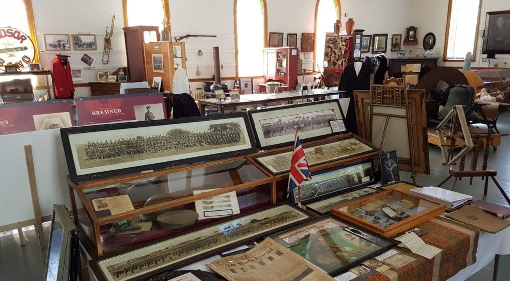 weest hants historical society museum exhibit interior 2016