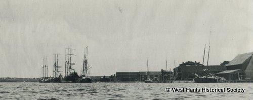 Ships on Windsor Wharf, Windsor, NS